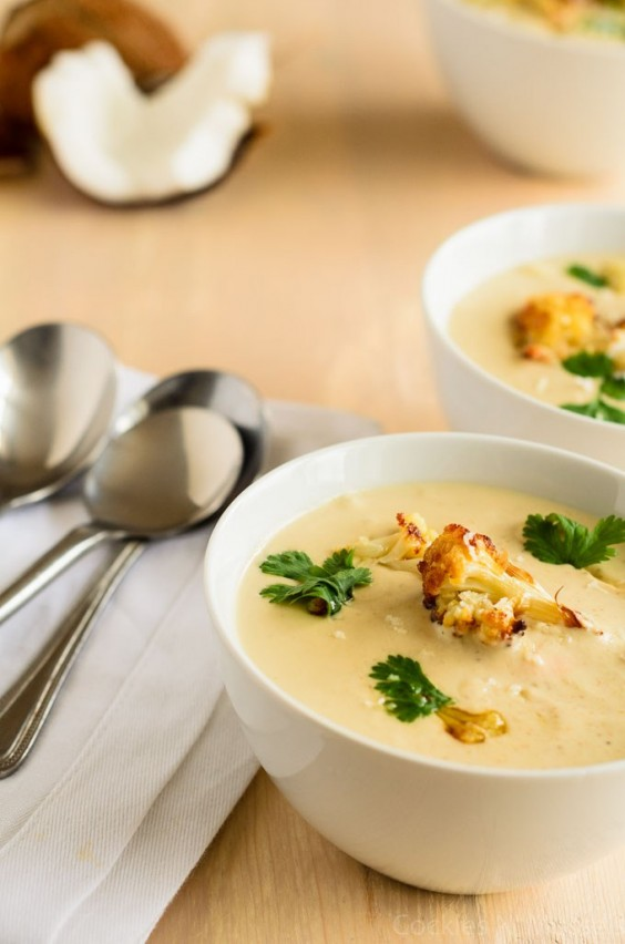 16. Caramelized Cauliflower and Coconut Soup