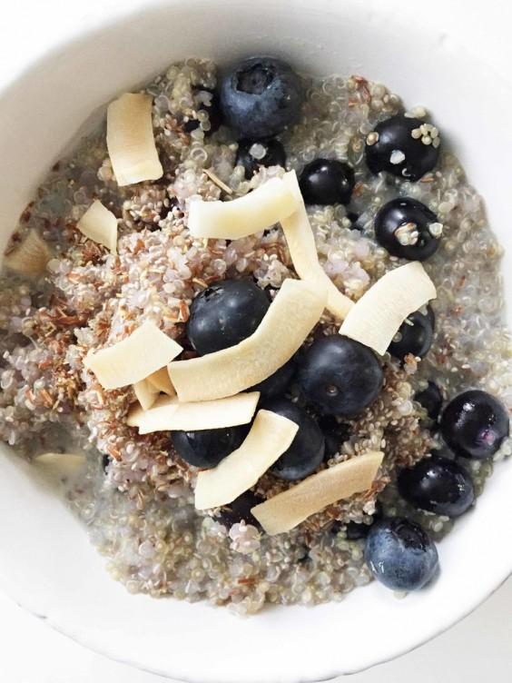 Coconut Blueberry Breakfast Quinoa