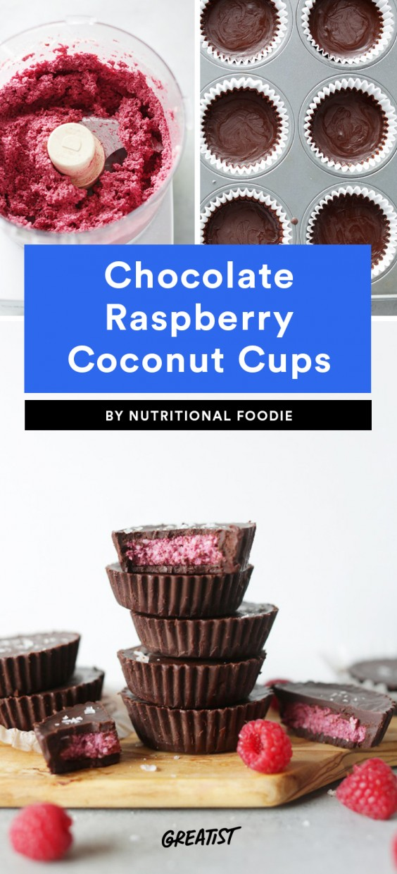 Chocolate Raspberry Coconut Cups