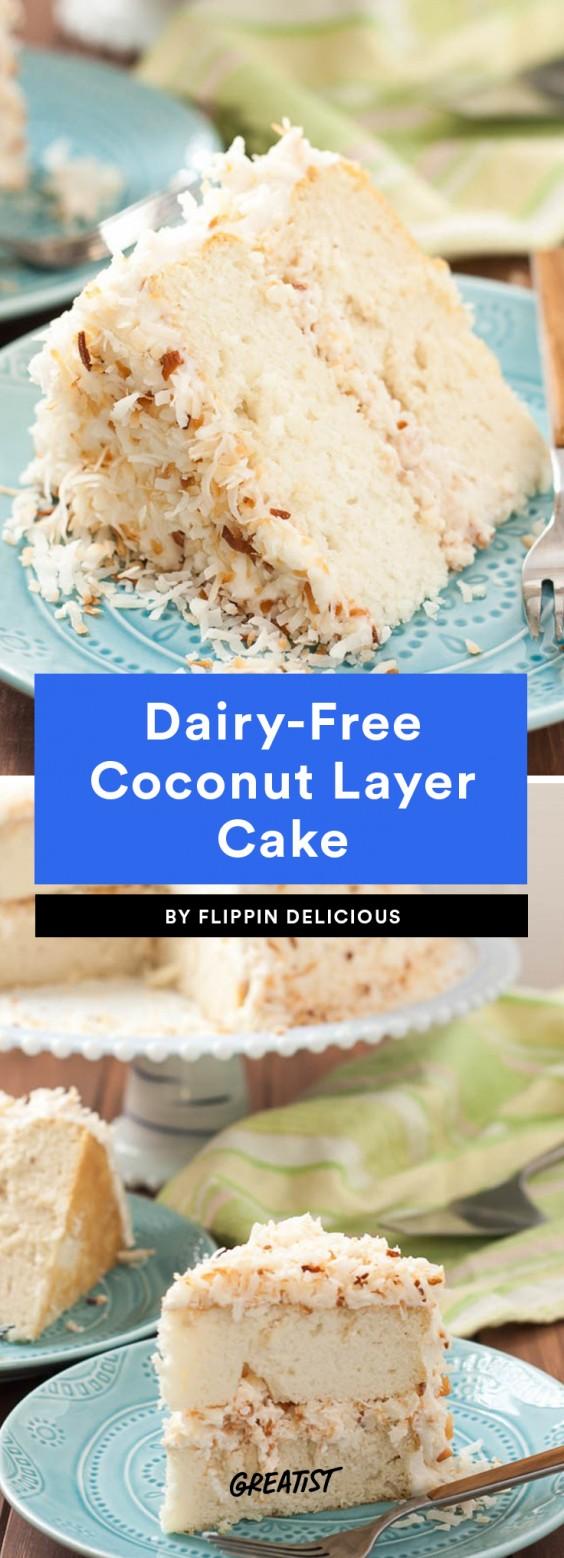 Dairy-Free Coconut Layer Cake Recipe
