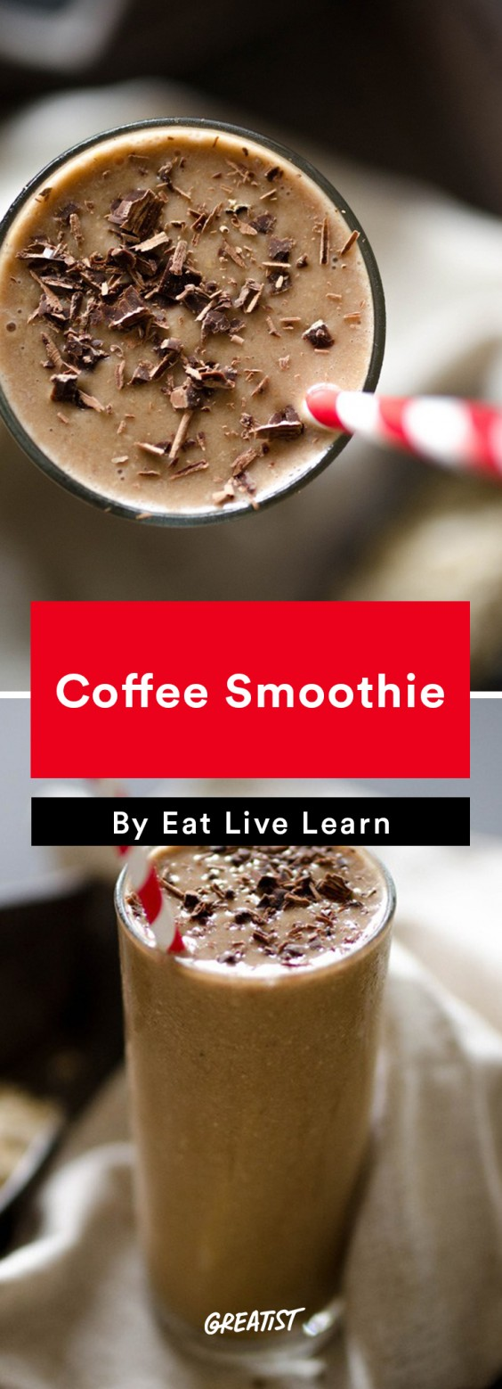 Leftover coffee: Smoothie