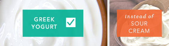 Use Greek yogurt instead of sour cream