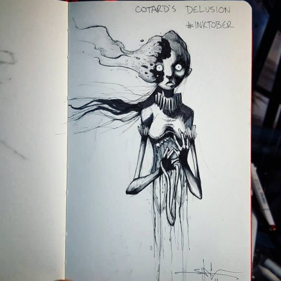 cotard's delusion illustration