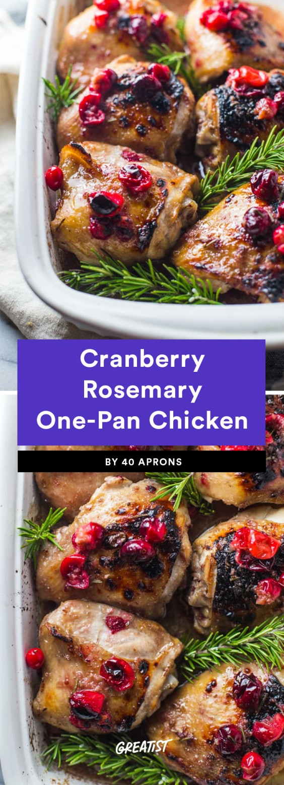 Cranberry Rosemary One-Pan Chicken