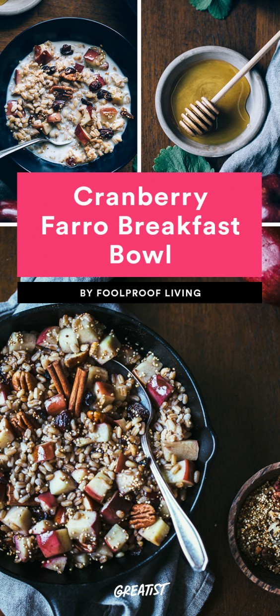 Cranberry Farro Breakfast Bowl