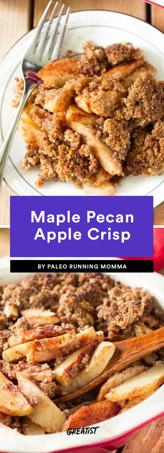 Maple Pecan Apple Crisp Recipe