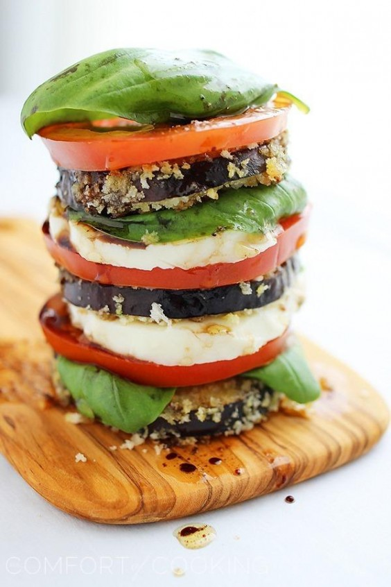 Cooking For Two: Crispy Eggplant Caprese Stacks Recipe
