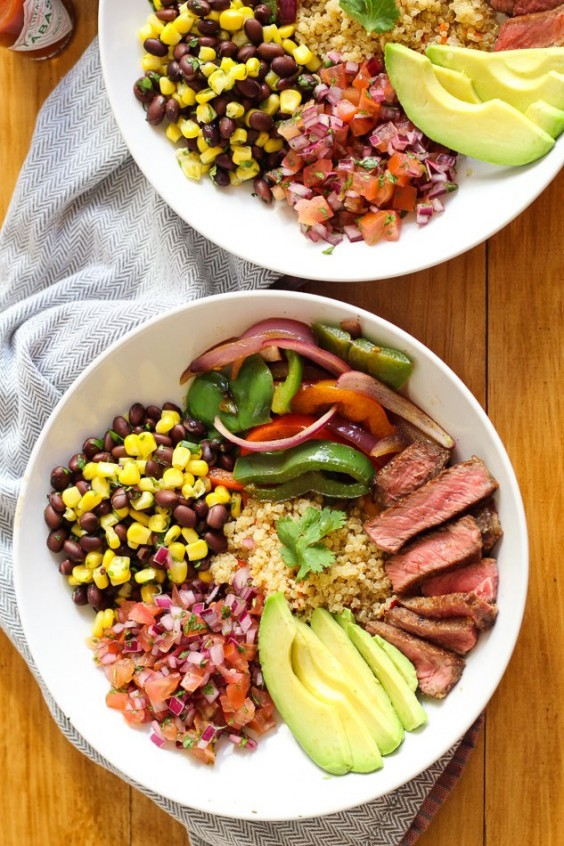 1. Steak and Quinoa Burrito Bowl