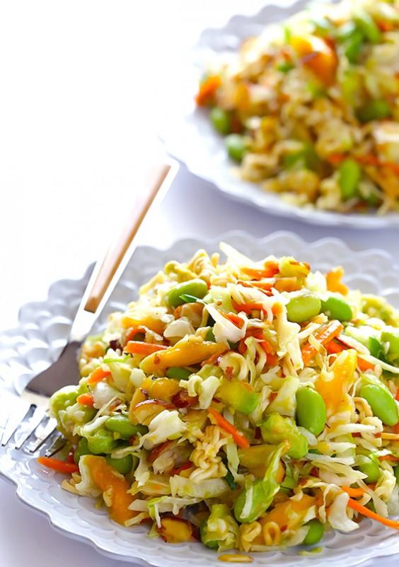 15. Crunchy Asian Ramen Noodle Salad