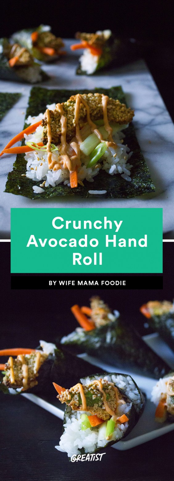 Crunchy Avocado Hand Roll
