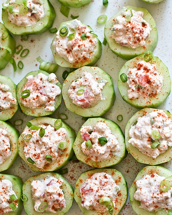 Cucumber Cups With Spicy Crab