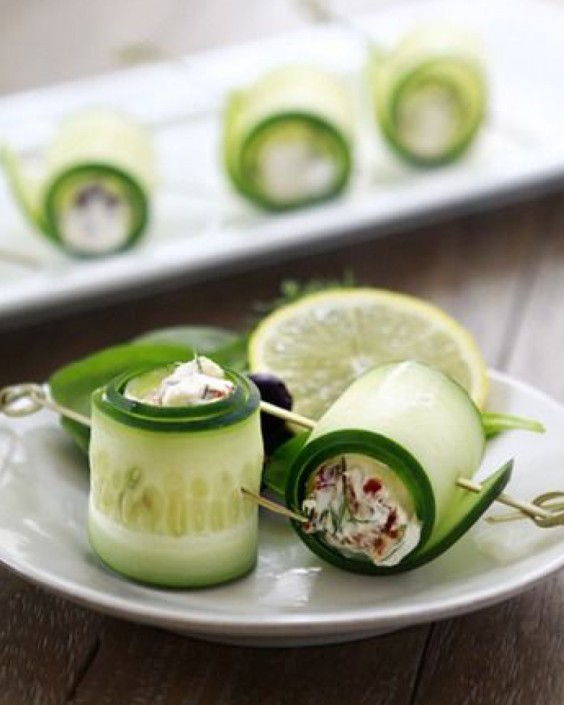 Cucumber Feta Rolls | To Cook! | Pinterest