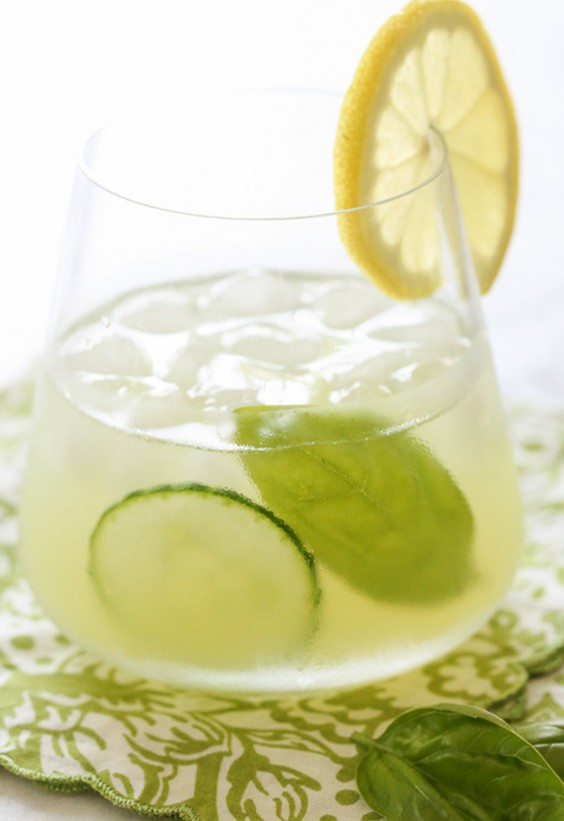 Picnic: Basil-Cucumber Gin Cooler