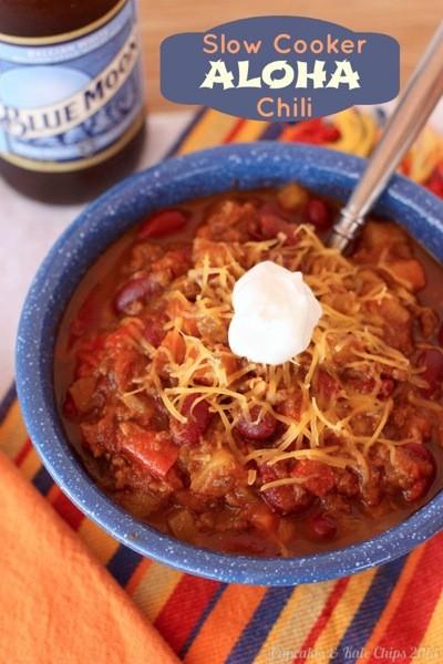 14. Slow Cooker Aloha Chili
