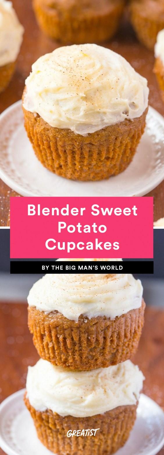 Blender Sweet Potato Cupcakes