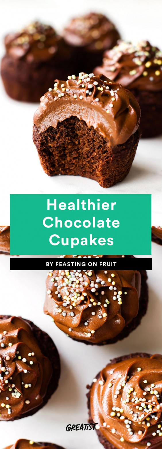 Healthier Chocolate Cupcakes