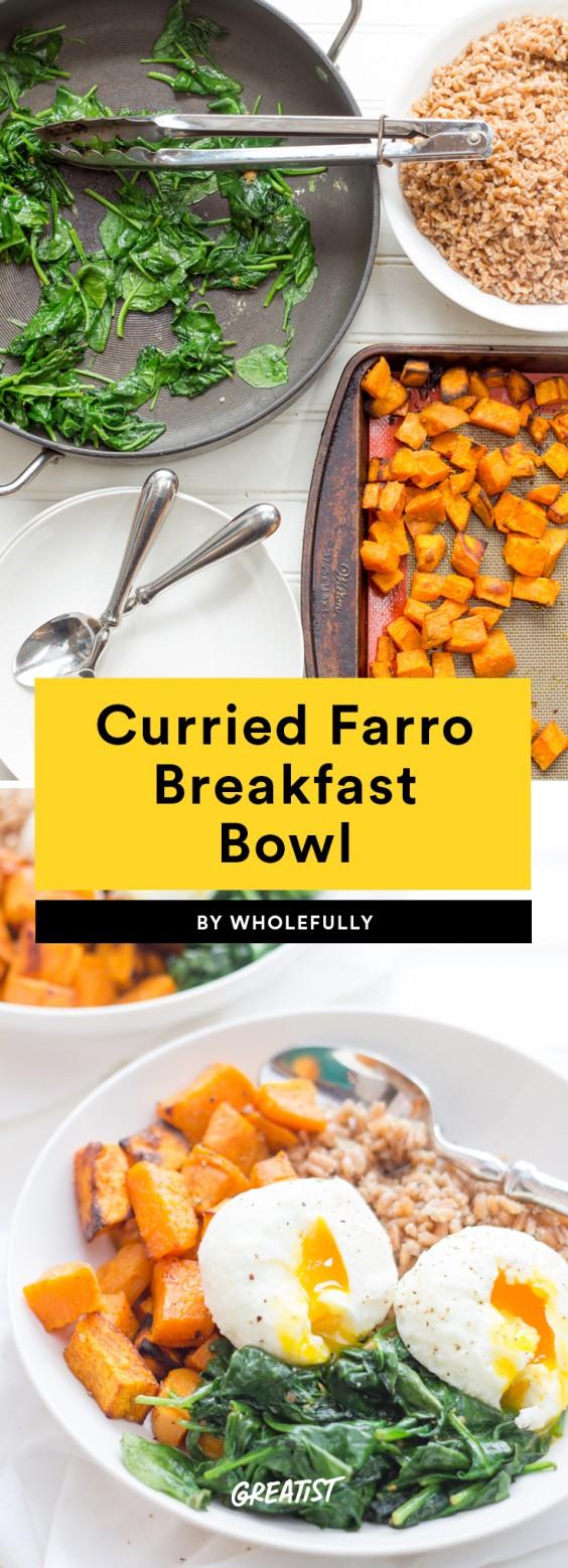 Curried Farro Breakfast Bowl