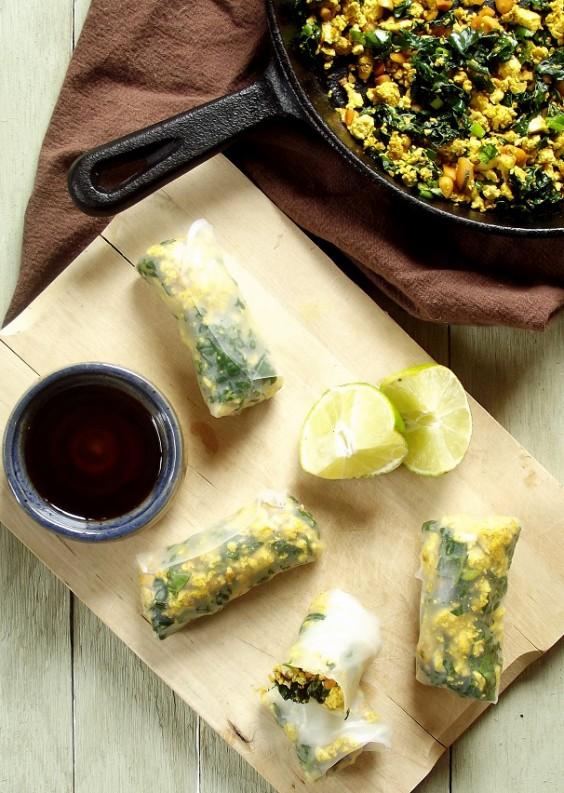 Tofu Recipes: Curry Tofu Autumn Rolls