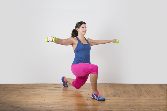 Lateral Raise Lunge