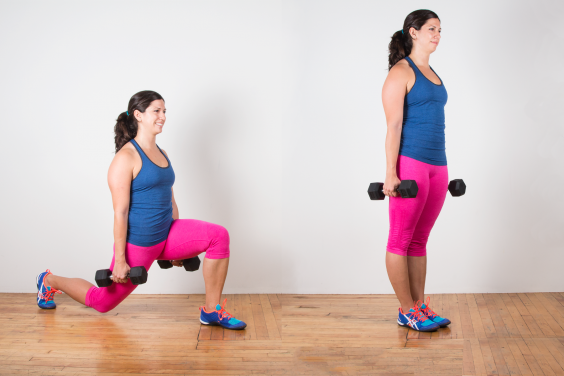 Image result for Dumbbell Lunge exercise