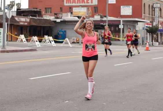 Deanna running in a race