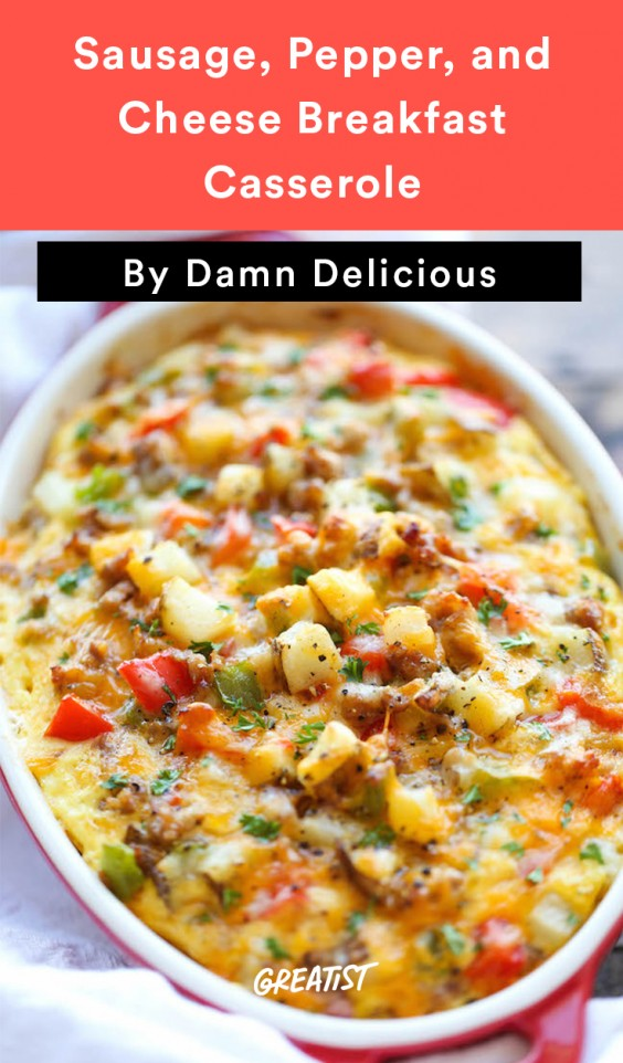 Scrambled Egg Recipes: Sausage, Pepper, and Cheese Casserole