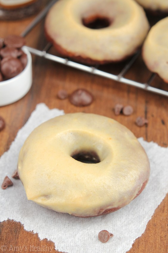 Dark Chocolate Peanut Butter Doughnuts