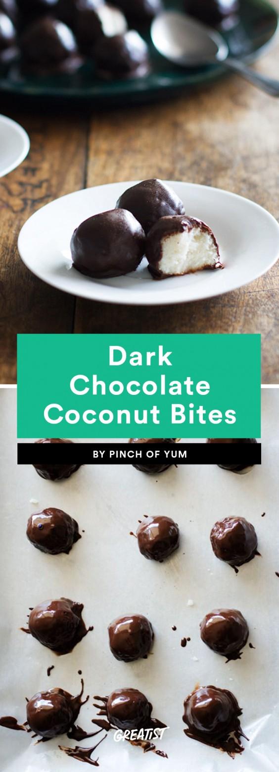 Dark Chocolate Coconut Bites Recipe
