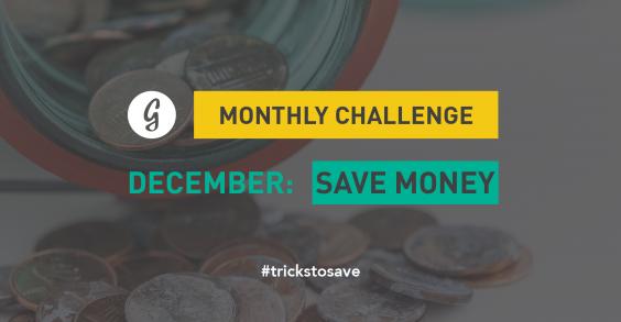 December Save Money Monthly Challenge