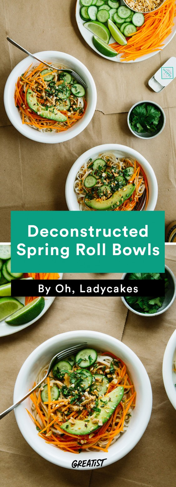 oh ladycakes: Deconstructed Spring Roll Bowls