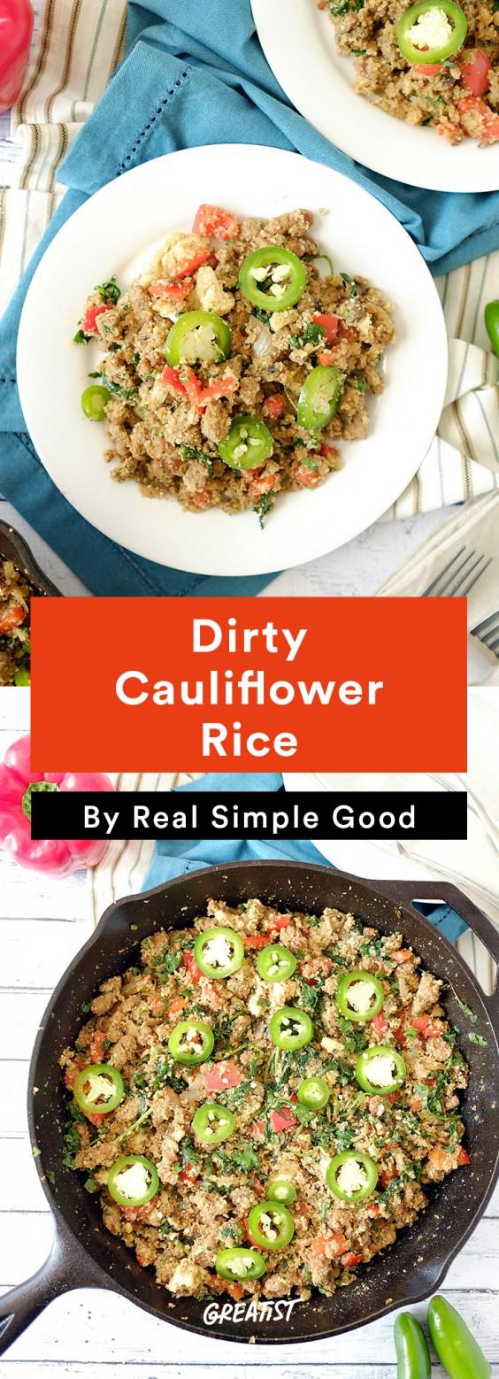 Real Simple Good Dinner: Dirty Cauliflower Rice