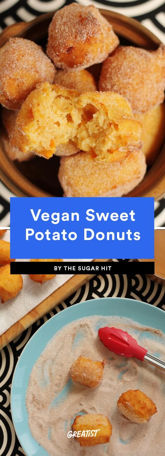 Vegan Sweet Potato Donuts