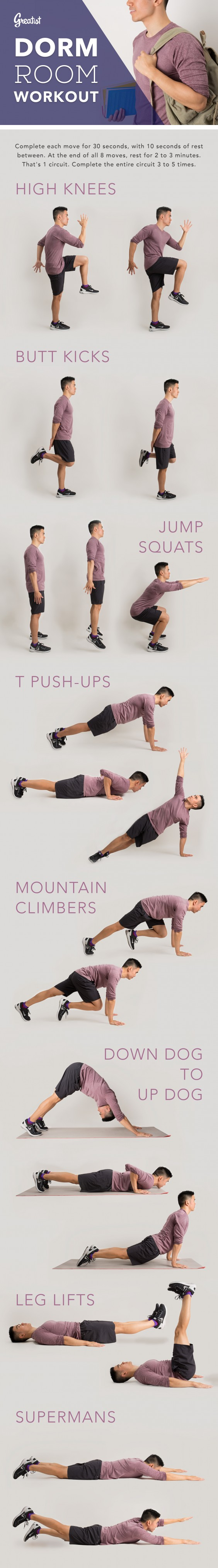 8 Bodyweight Exercises To Try In Your Dorm Room Nice Look