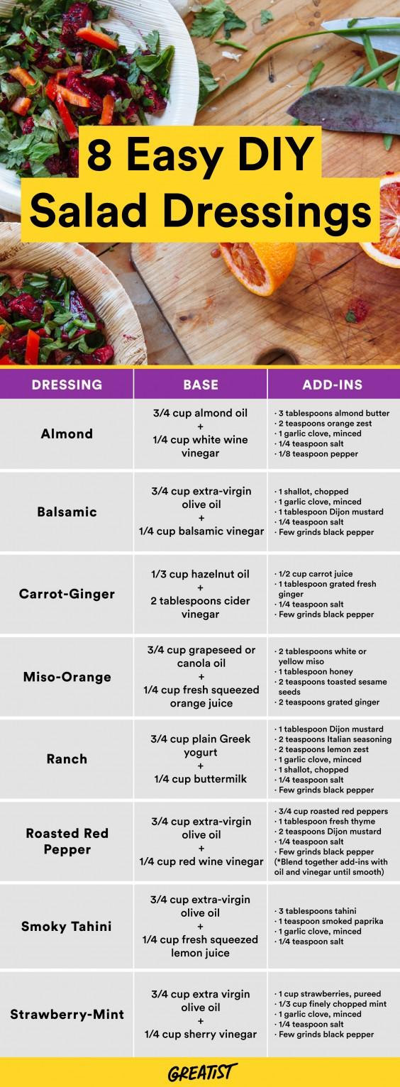 8 Homemade Salad Dressings