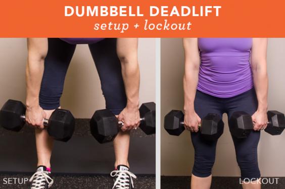 Dumbbell deadlift