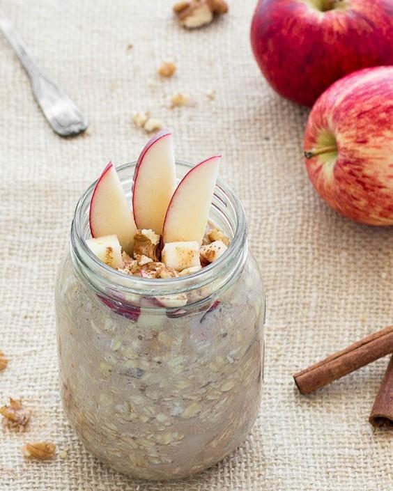 5. Apple Pie Overnight Oats