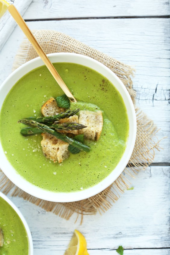 Vegan post workout meals 14 awesome recipe ideas greatist 6 creamy asparagus and pea soup forumfinder Images