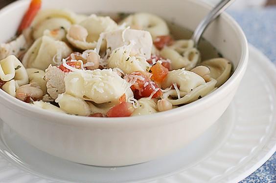 Easy Chicken Tortellini Soup