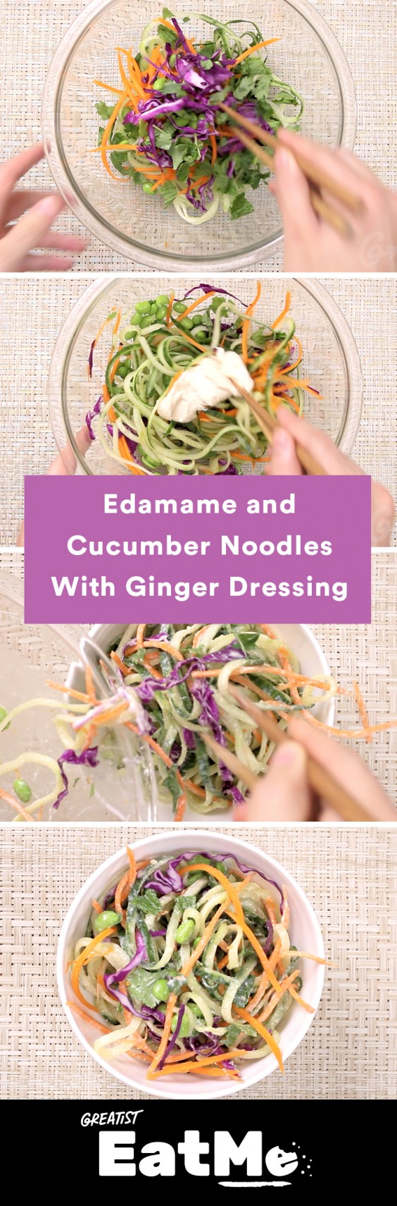 Eat Me Video: Edamame and Cucumber Noodles With Ginger Dressing