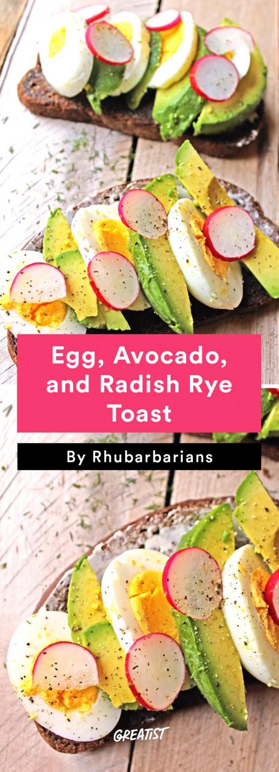 Egg, Avocado, and Radish Rye Toast Recipe
