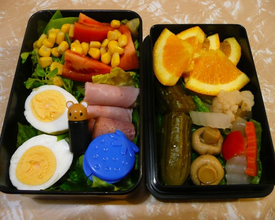 Hard-Boiled Egg and Cold Cuts Bento