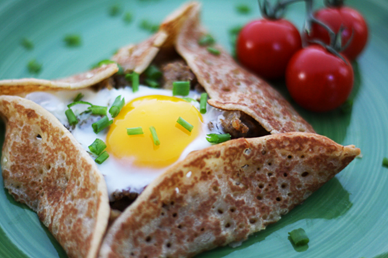Baked Egg Crepes
