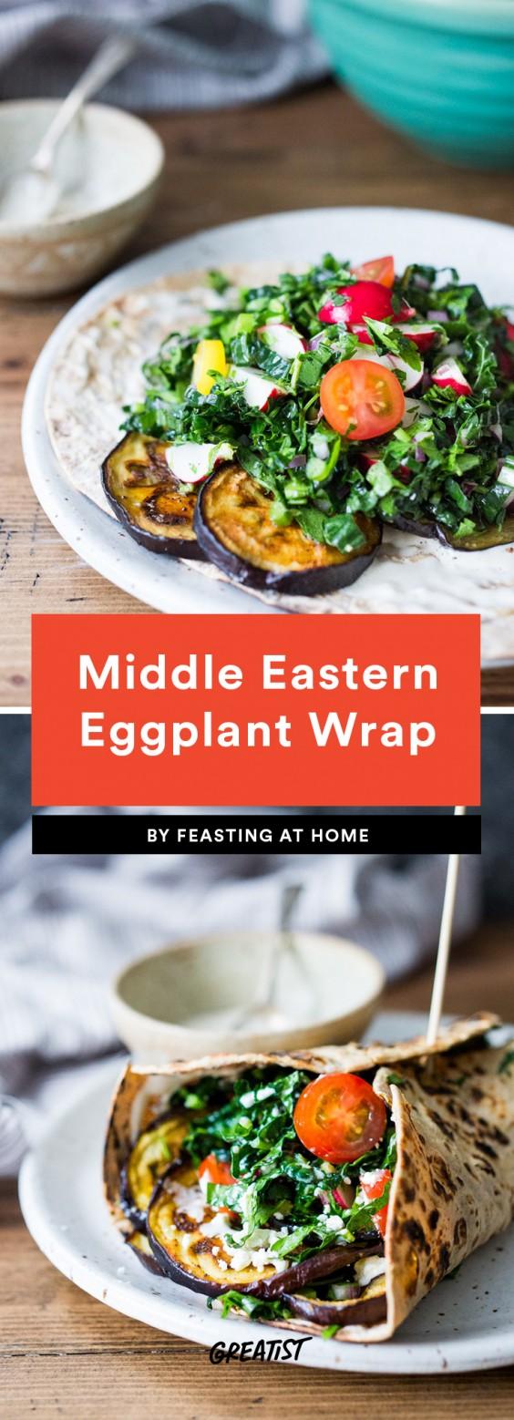 Middle Eastern Eggplant Wrap