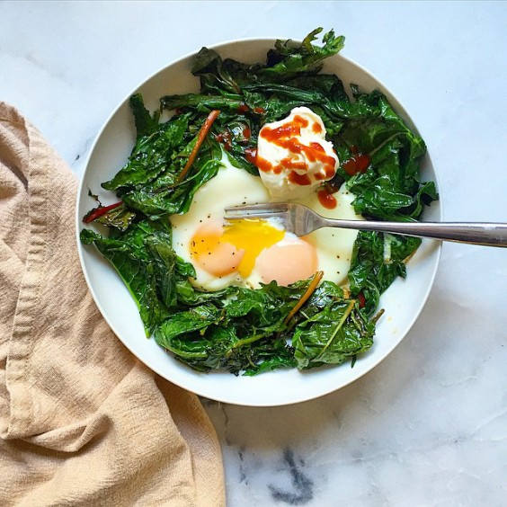 Top with Greek yogurt and sriracha, and you're set!