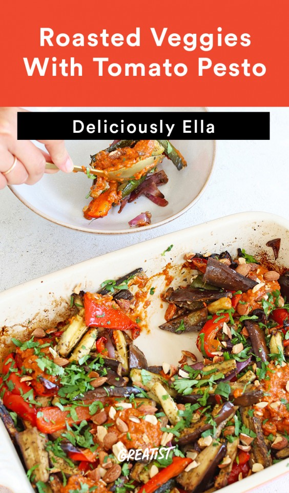 deliciously ella - pesto veggies