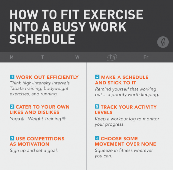 How to Fit Exercise into a Busy Work Schedule