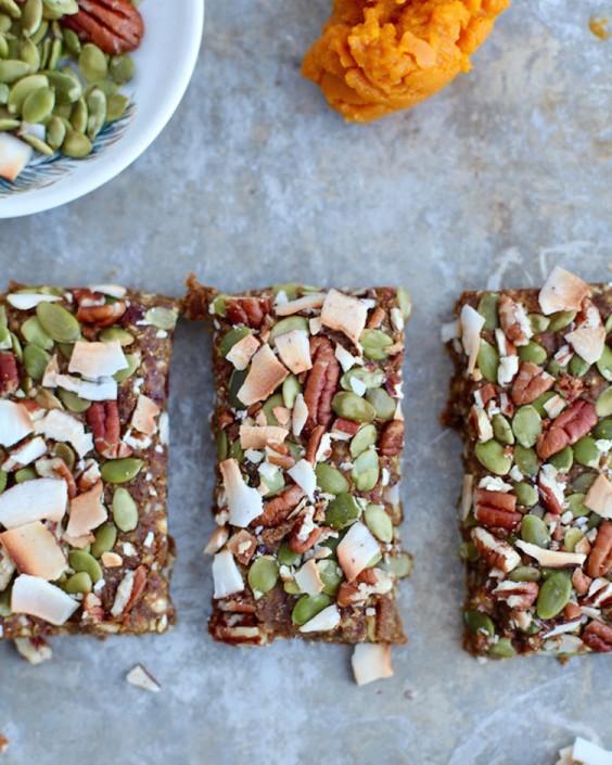 Vegan Pumpkin Pie Energy Bars