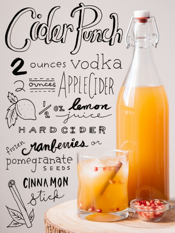 fall cocktail: Cider Punch