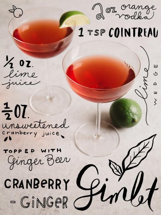 fall cocktail: cranberry gimlet
