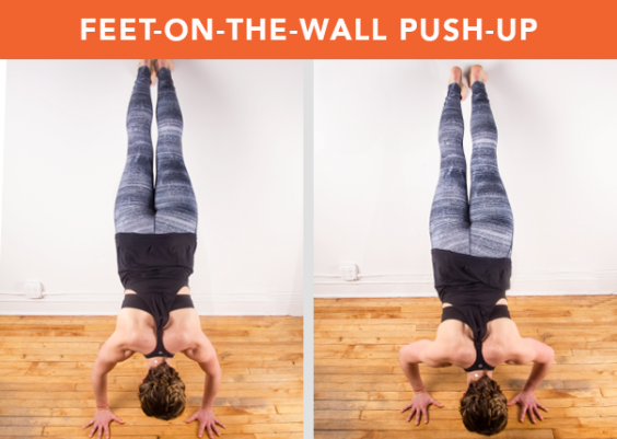 Feet-on-the-Wall Push-Up